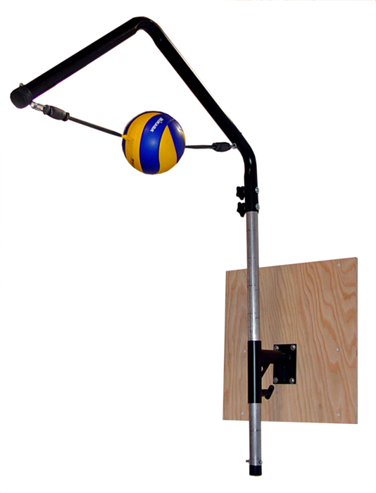 Volleyball Spike Trainer Model VST-400. Perfect your Volleyball hitting technique using the most cost-effective and durable Volleyball Spike Trainer on the market. Work on your Volleyball footwork, Volleyball Approach, Jump Technique, Volleyball Arm Swing, and Volleyball Contact.
